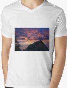 Purple Sky Mens V-Neck T-Shirt
