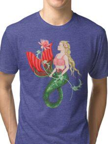 Waterlily Mermaid Tri-blend T-Shirt
