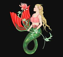 Waterlily Mermaid Womens Fitted T-Shirt
