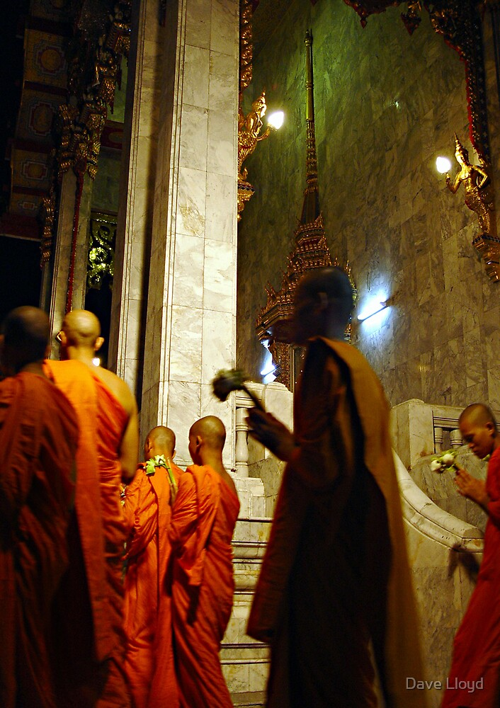 Monks Entering Temple by Dave Lloyd