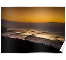 Bells Beach Golden Glow Poster