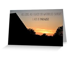 Waterloo Sunset - The Kinks Greeting Card