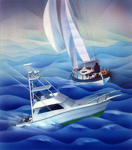 boating by Jim rownd