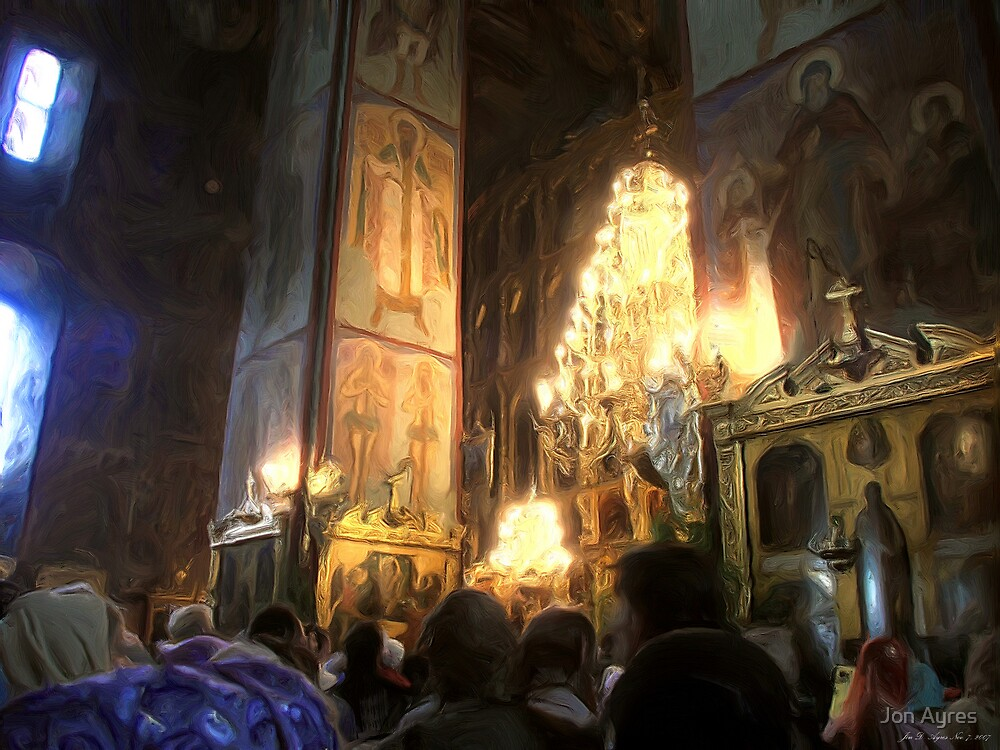 Inside The Assumption Cathedral (1559 - 1585)2 by Jon Ayres
