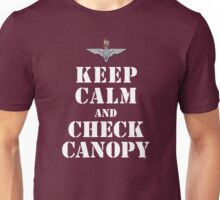 KEEP CALM AND CHECK CANOPY - PARACHUTE REGIMENT Unisex T-Shirt