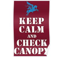 KEEP CALM AND CHECK CANOPY - PEGASUS Poster