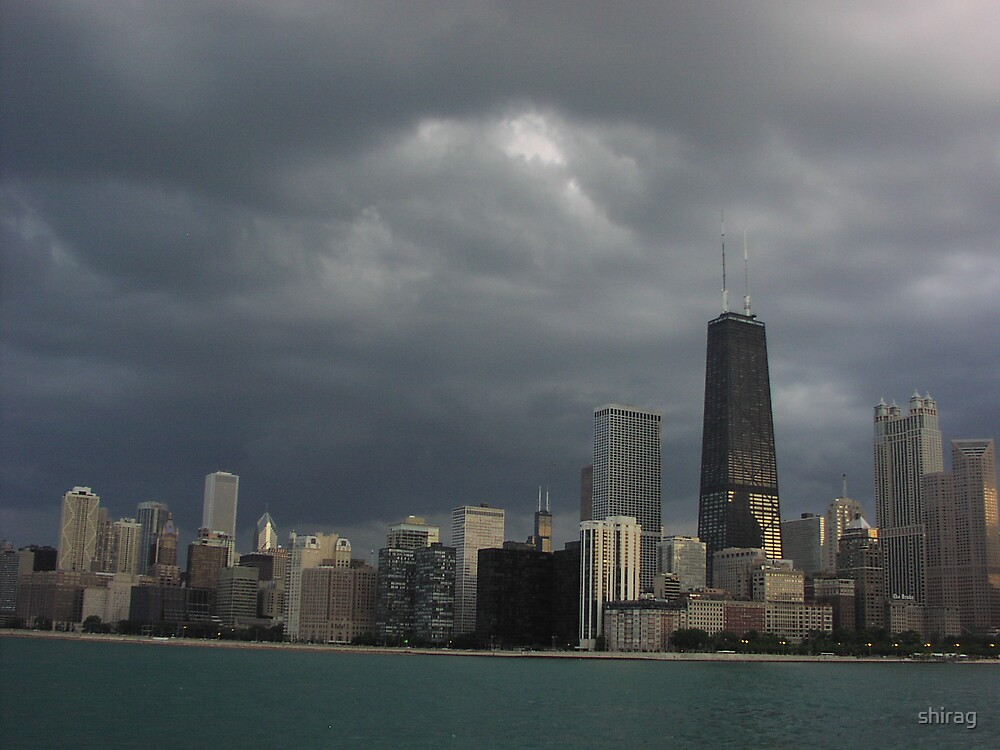 Cloudy Downtown by shirag