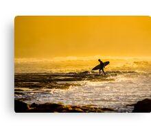 Bells Beach Golden Silhouette Canvas Print