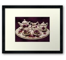 TEA SET FOR TEA TIME >PICTURE AND OR CARD... Framed Print