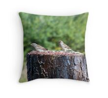 stump for two Throw Pillow