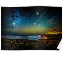 Bells Beach Starry Night Poster
