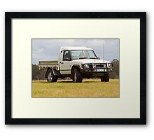 Land Rover Discovery Ute Framed Print