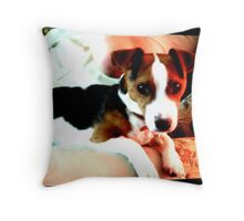 A doggy friend Throw Pillow