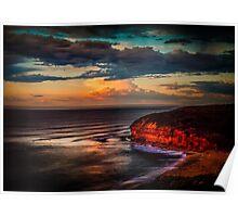 Bells Beach Sunrise Glow Poster