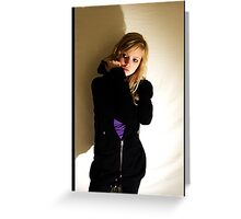 Sanna in black & purple Greeting Card