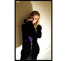 Sanna in black & purple Photographic Print