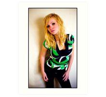 Sanna in green Art Print