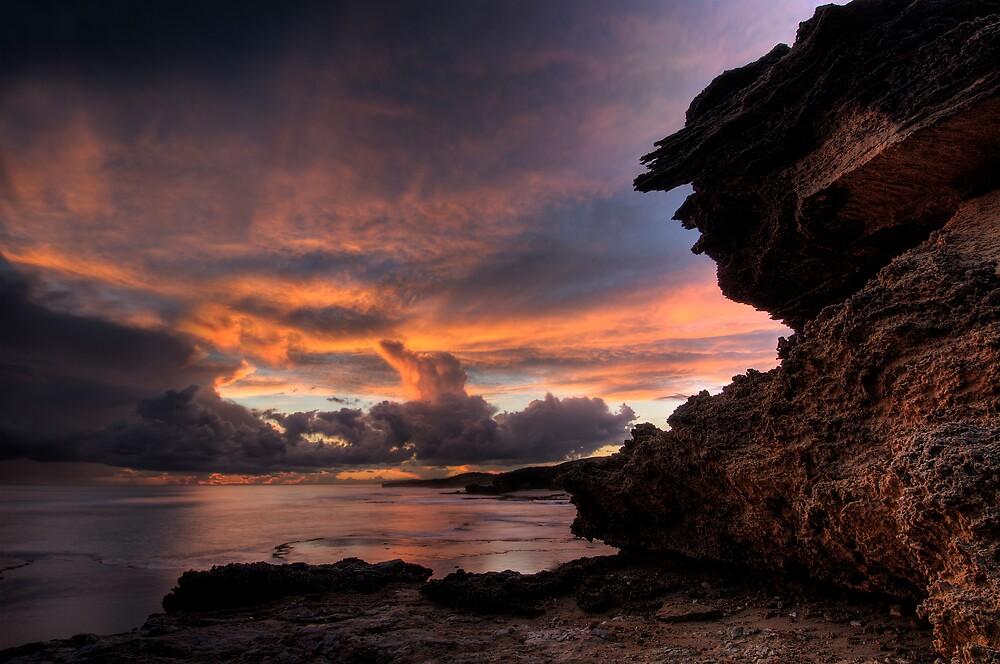 Thunderstorm Sunset by Robert Mullner