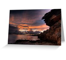 Thunderstorm Sunset Greeting Card