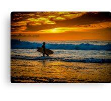 Bells Beach Silhouette Canvas Print