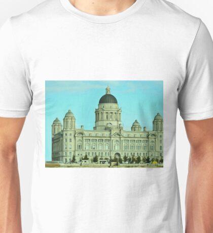 Port of Liverpool Building (Digital Art) Unisex T-Shirt