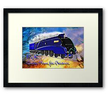 We Are Coming Home for Christmas - christmas card Framed Print