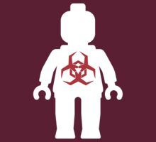 White Minifig with Radioactive Symbol by ChilleeW