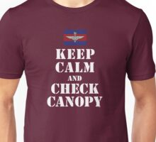 KEEP CALM AND CHECK CANOPY GUARDS PARA Unisex T-Shirt