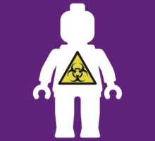 White Minifig with Radioactive Symbol  by Customize My Minifig
