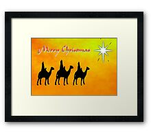 Merry Christmas from the Three Wise Men, greeting card Framed Print