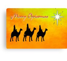 Merry Christmas from the Three Wise Men, greeting card Canvas Print