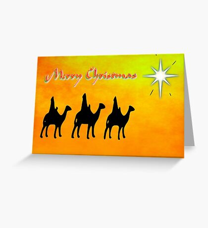 Merry Christmas from the Three Wise Men, greeting card Greeting Card