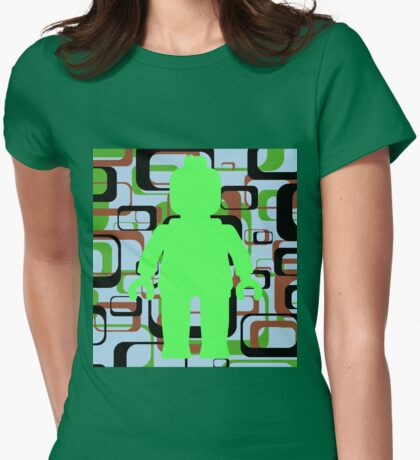 Retro Minifig Art Womens Fitted T-Shirt