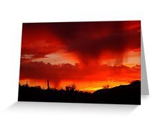 Desert Rain at Sunset Greeting Card