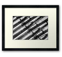 Green Tips (Black & White) Framed Print