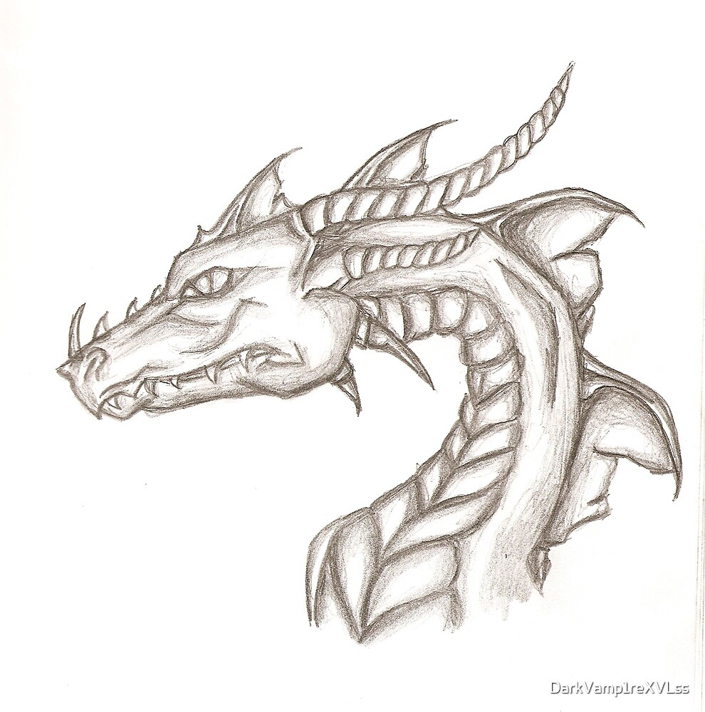 Dragon sketch by DarkVamp1reXVLss