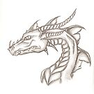 Dragon sketch by DarkVamp1reXVLss