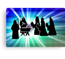 The Arrival of the Three Wise Men - christmas card Canvas Print