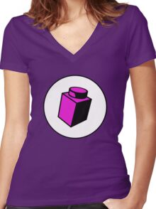 1 x 1 Brick Women's Fitted V-Neck T-Shirt