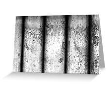 Brass Pillars (Black & White) Greeting Card