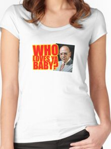 "Kojak - ""Who's Loves Ya?"" Women's Fitted Scoop T-Shirt"