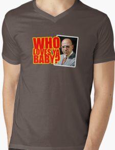 """Kojak - """"Who's Loves Ya?"""" Mens V-Neck T-Shirt"""
