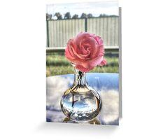 Pink rose (HDR) Greeting Card