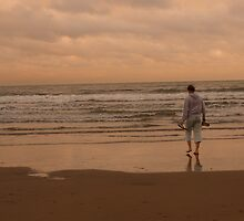 Sunset paddling by Rockmonkey