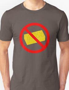 """Road Traffic Sign """"NO BRICK""""  T-Shirt"""