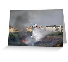 Fire Helicopter Greeting Card
