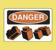 Danger Bricks Sign Kids Tee