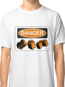 Danger Bricks Sign Classic T-Shirt