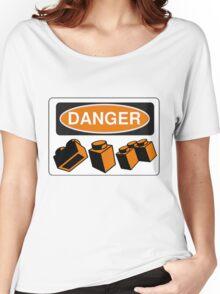 Danger Bricks Sign Women's Relaxed Fit T-Shirt