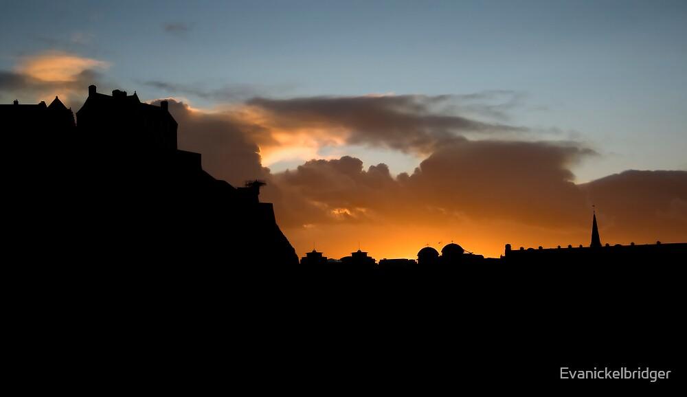 Sunset Silhouette by Evanickelbridger